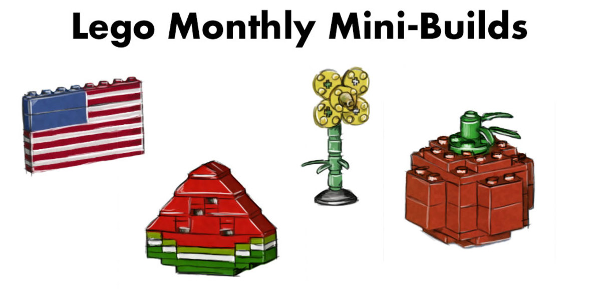 Lego monthly mini-builds.