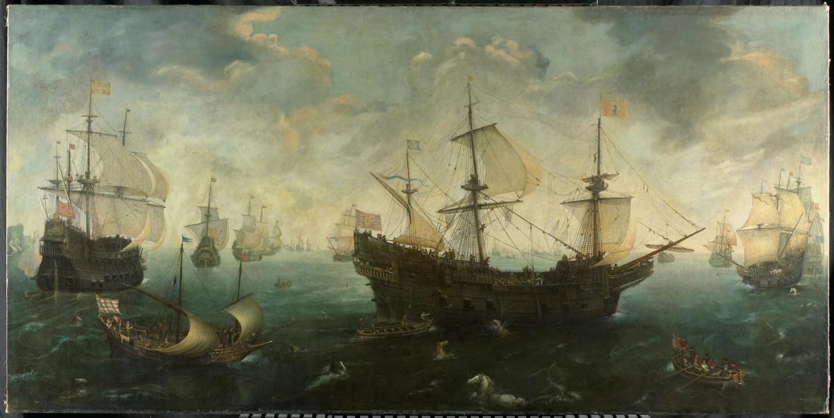 """The Spanish Armada by the English Coasts"" - Cornelis Claesz van Wieringen (1625)"