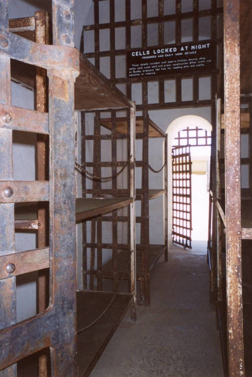 Inside jail cell, Yuma Territorial Prison