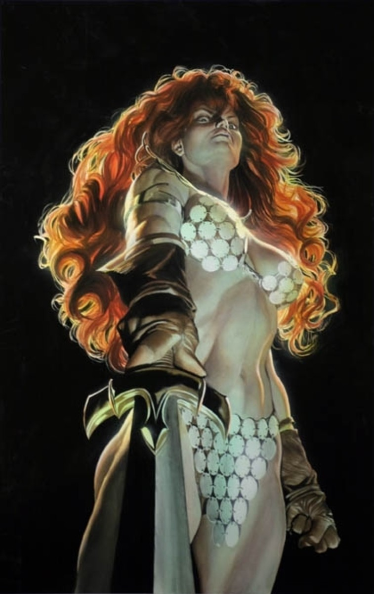 Red Sonja looks dangerous