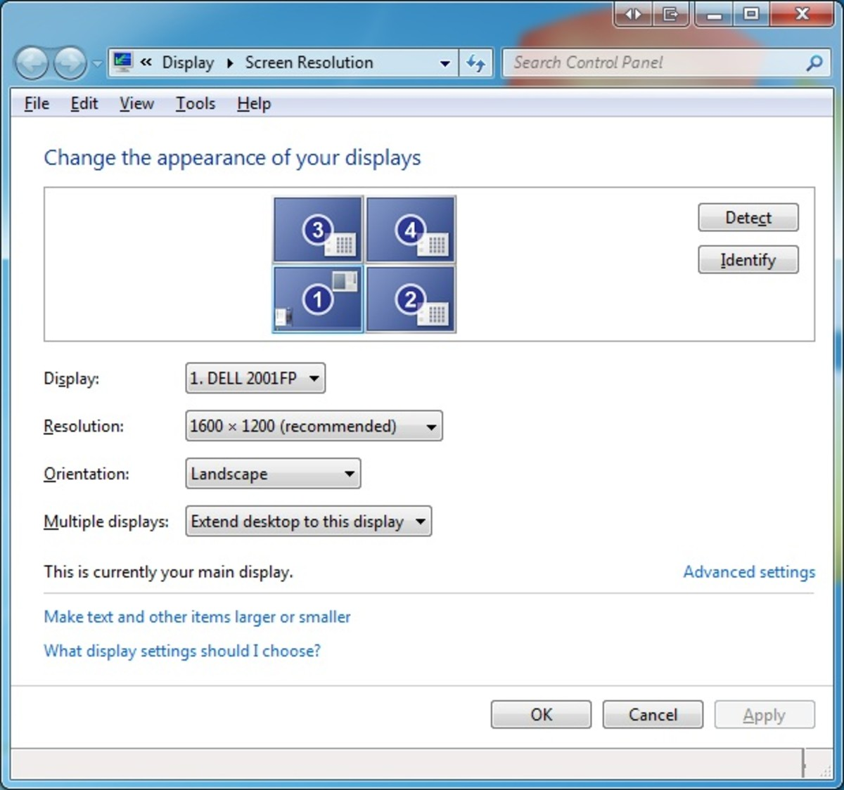 Enabling Multi Monitors in Windows