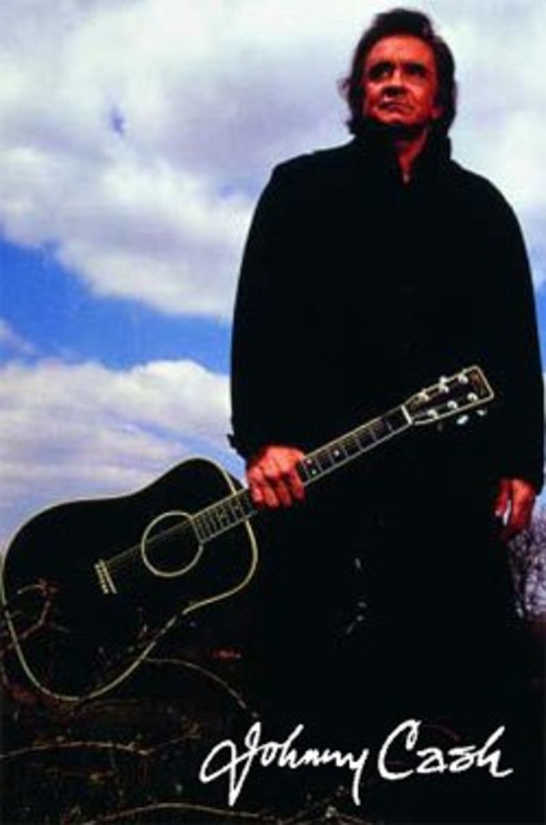 The Johnny Cash Model Martin D 35 Acoustic Guitar All In Black.