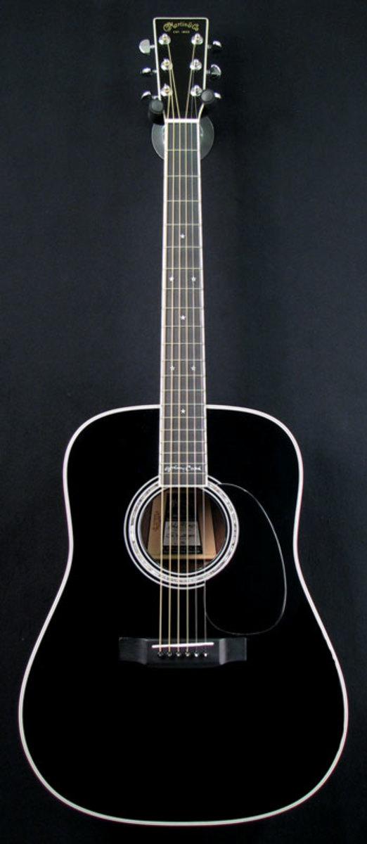 the johnny cash model martin d 35 acoustic guitar all in black. Black Bedroom Furniture Sets. Home Design Ideas