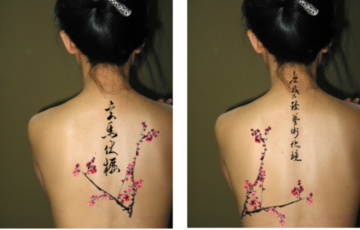 Blossom tattoo chinese japanese flower designs 12 for Chinese calligraphy tattoo