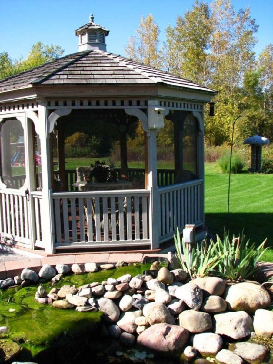 Our gazebo birdhouse