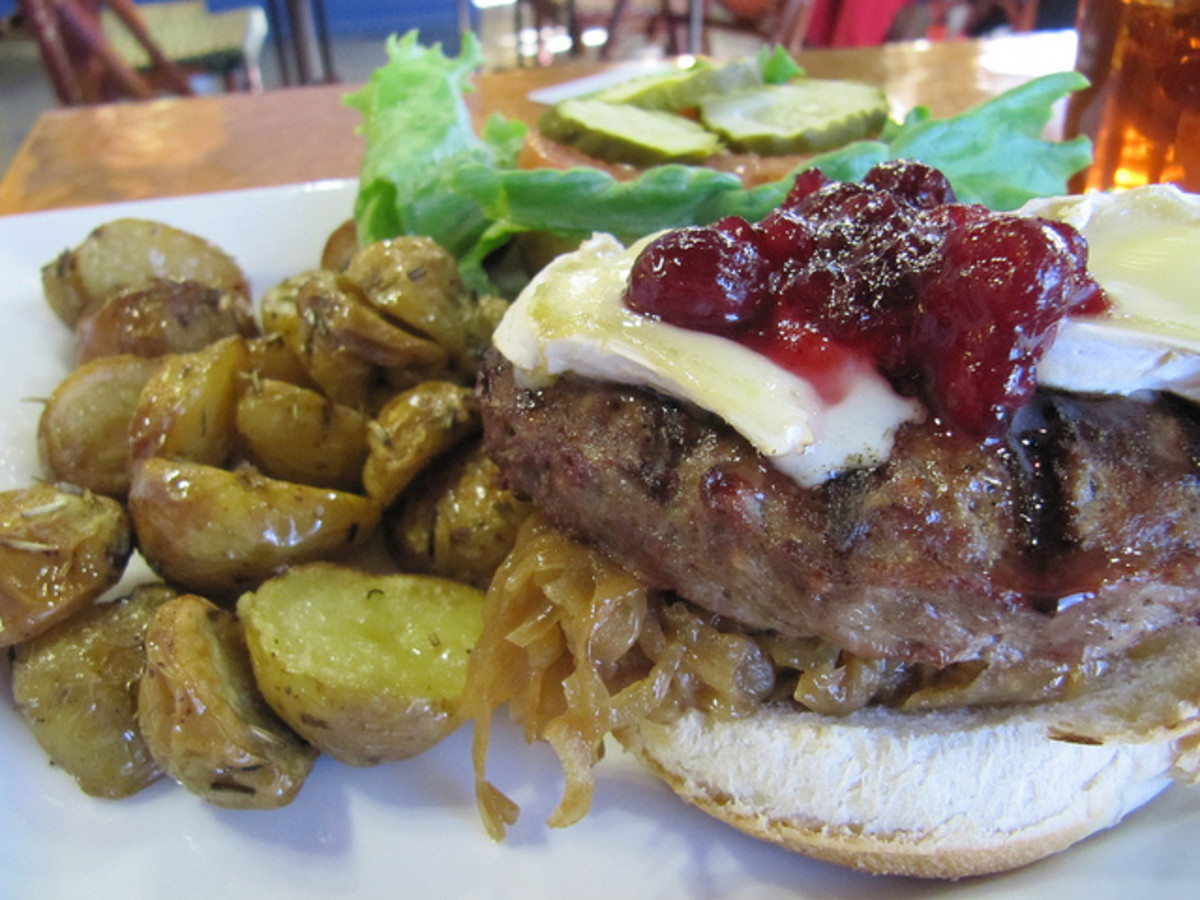 Turkey Burger with Cranberry