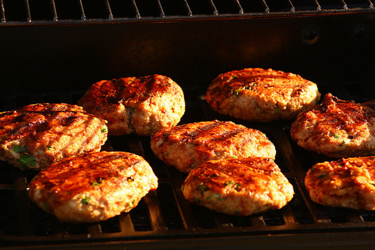 Chicken Burgers on the Grill