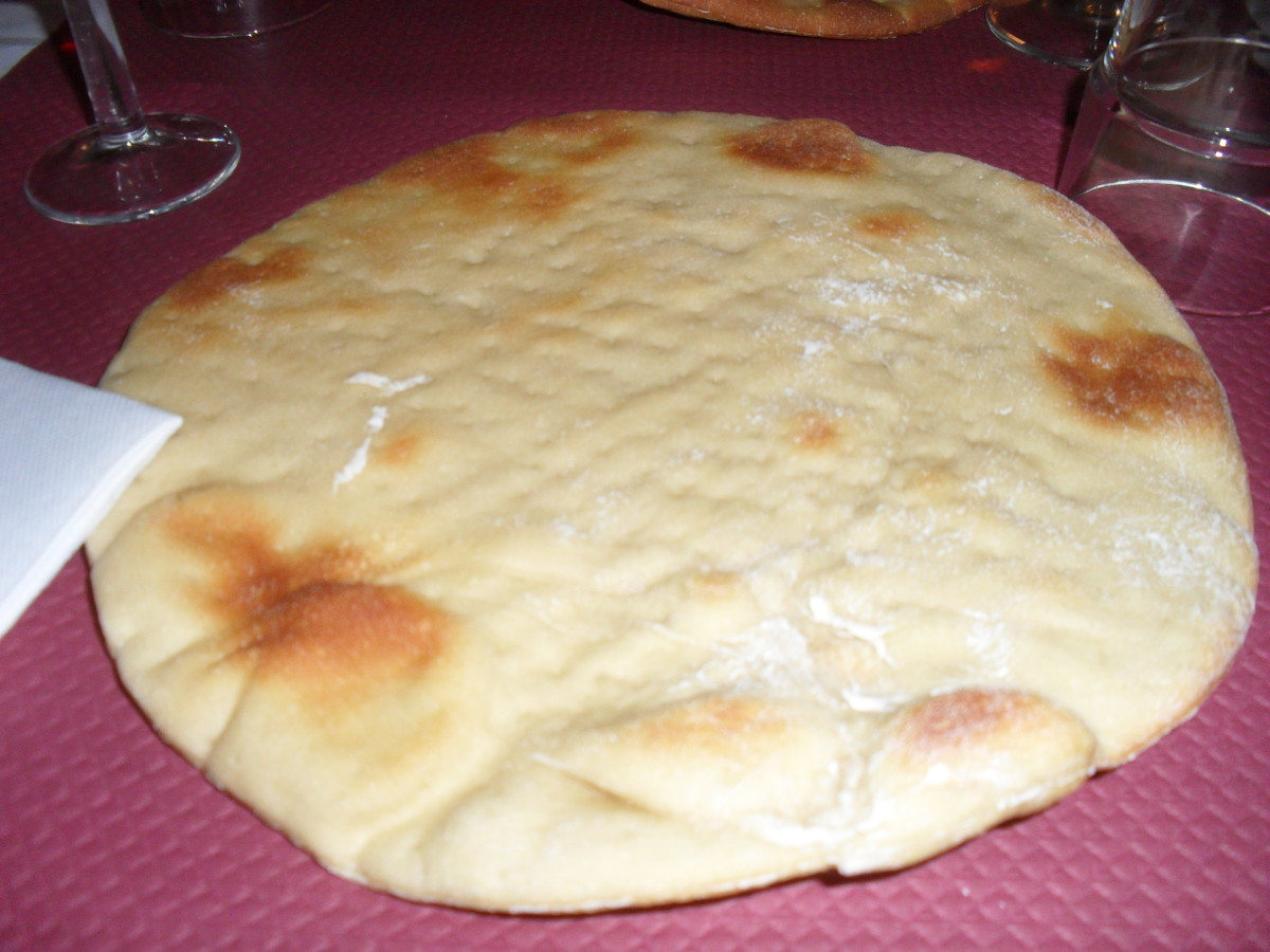 Specially made hard bread to use as dishes