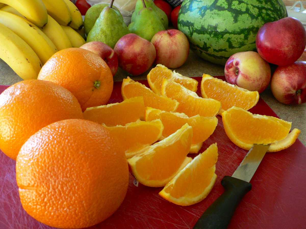 Citric fruits will act as hand cleansers.