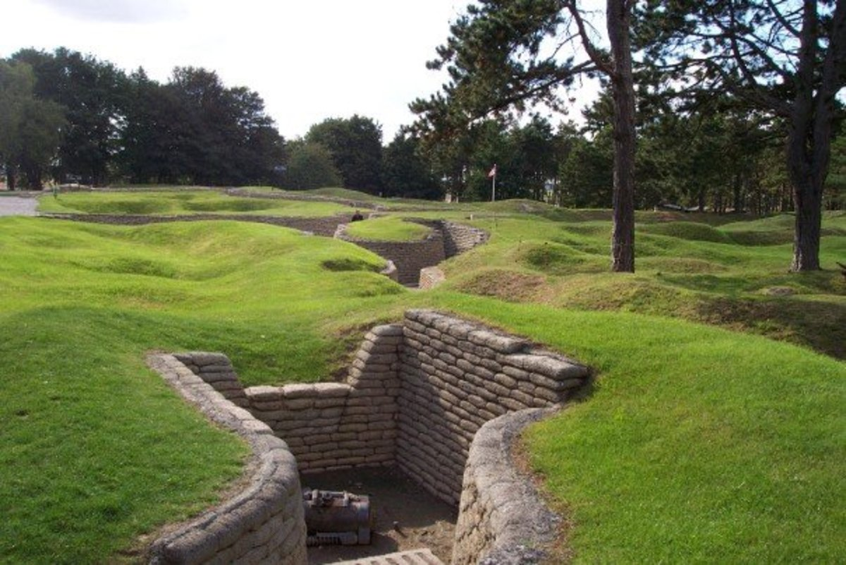 See: http://en.wikipedia.org/wiki/File:Vimy_Memorial_-_German_trenches,_mortar_emplacement.jpg