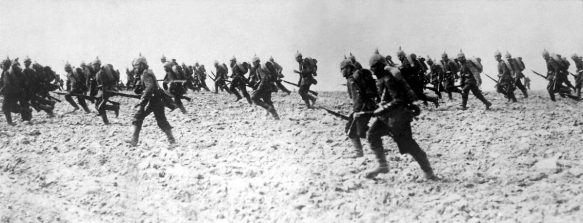 'German infantry on the march on August 7, 1914.' ~ Underwood & Underwood. (US War Dept.). See: http://en.wikipedia.org/wiki/File:German_infantry_1914_HD-SN-99-02296.JPEG