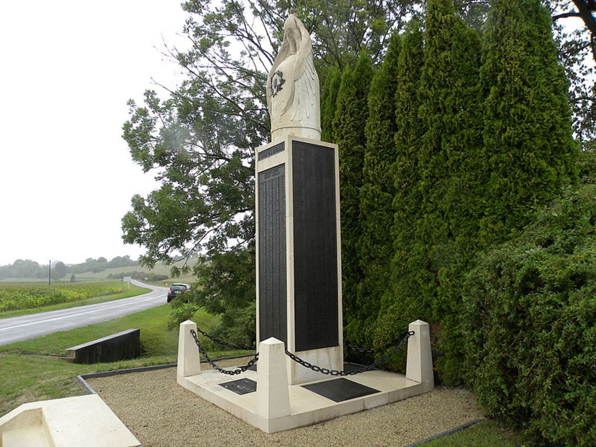 This memorial is on the Meuse-Argonne Battlefield. 'The Meuse-Argonne American Cemetery is the largest American military cemetery in Europe.' See: http://www.abmc.gov/cemeteries/cemeteries/ma_base.pdf