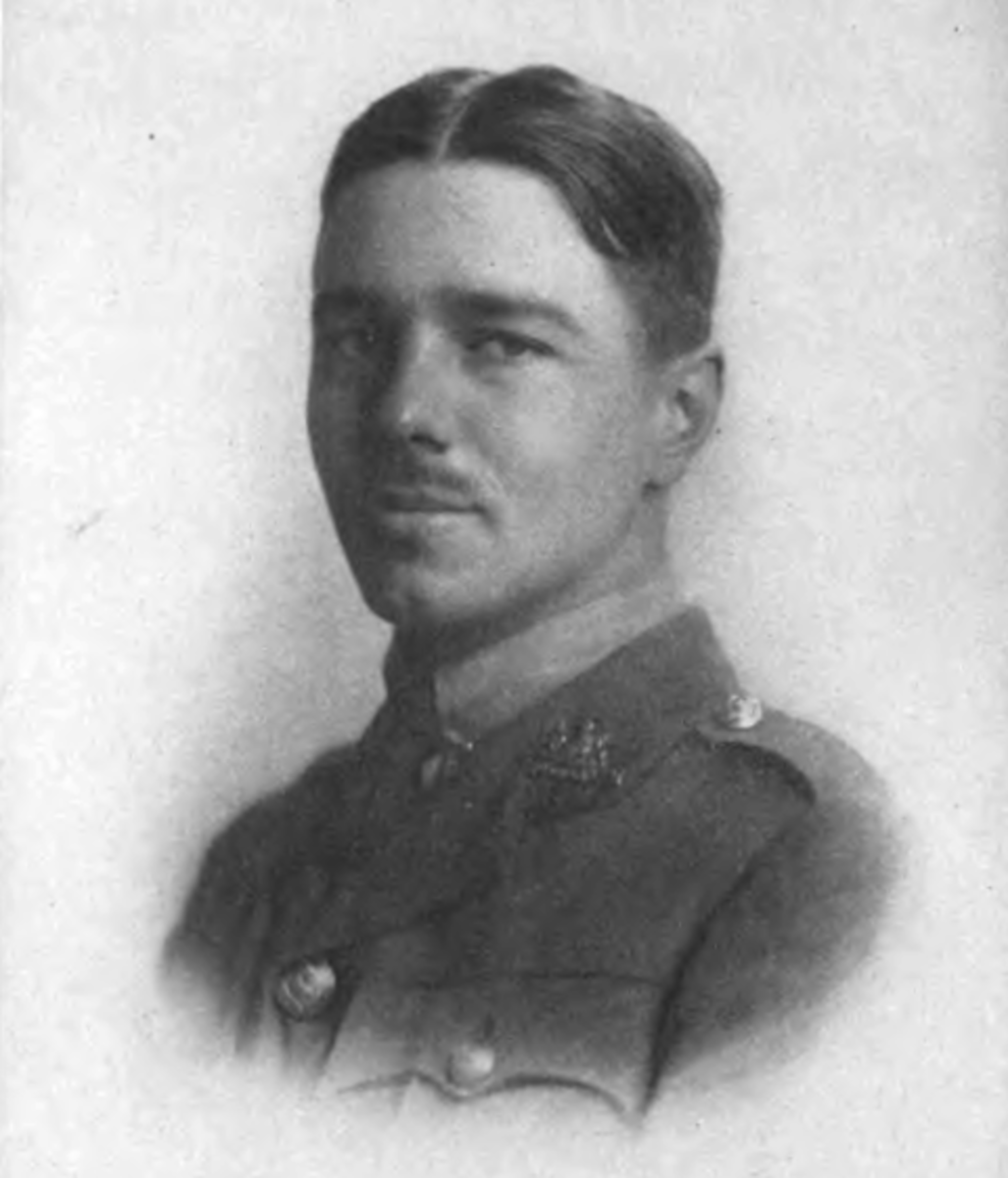 From a collection of poems ~ 1920. Public Domain. . See: http://en.wikipedia.org/wiki/File:Wilfred_Owen_2.png