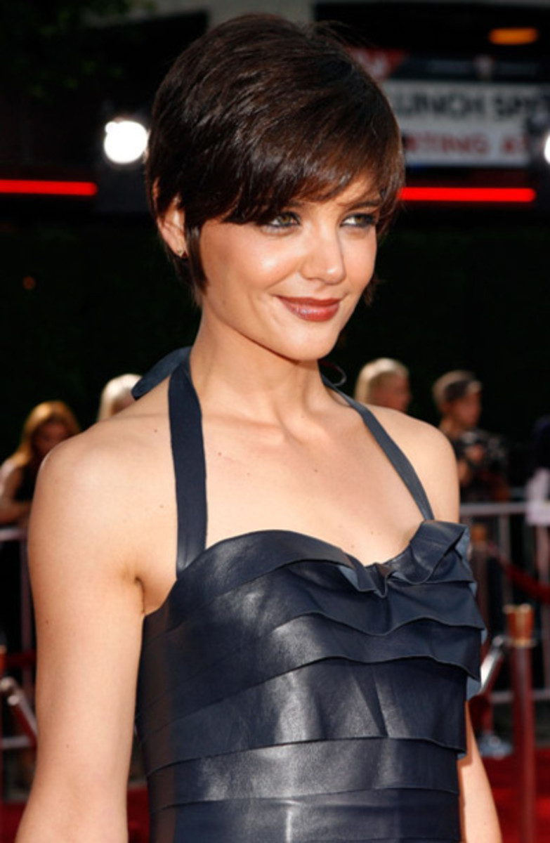 katie holmes pixie haircut styles 2012 for women