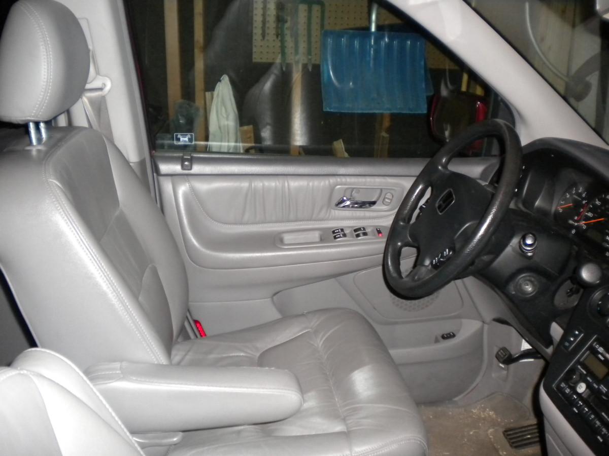 The minivan's command center.