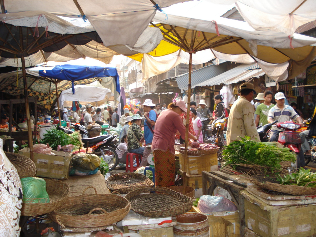 Cambodian Khmer Market Place Southeast Asia