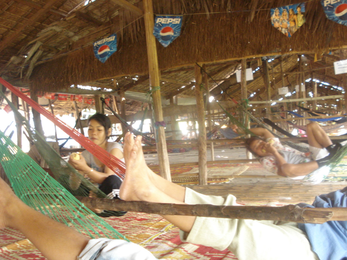 Lounging in the heat in Cambodia Srok Khmer
