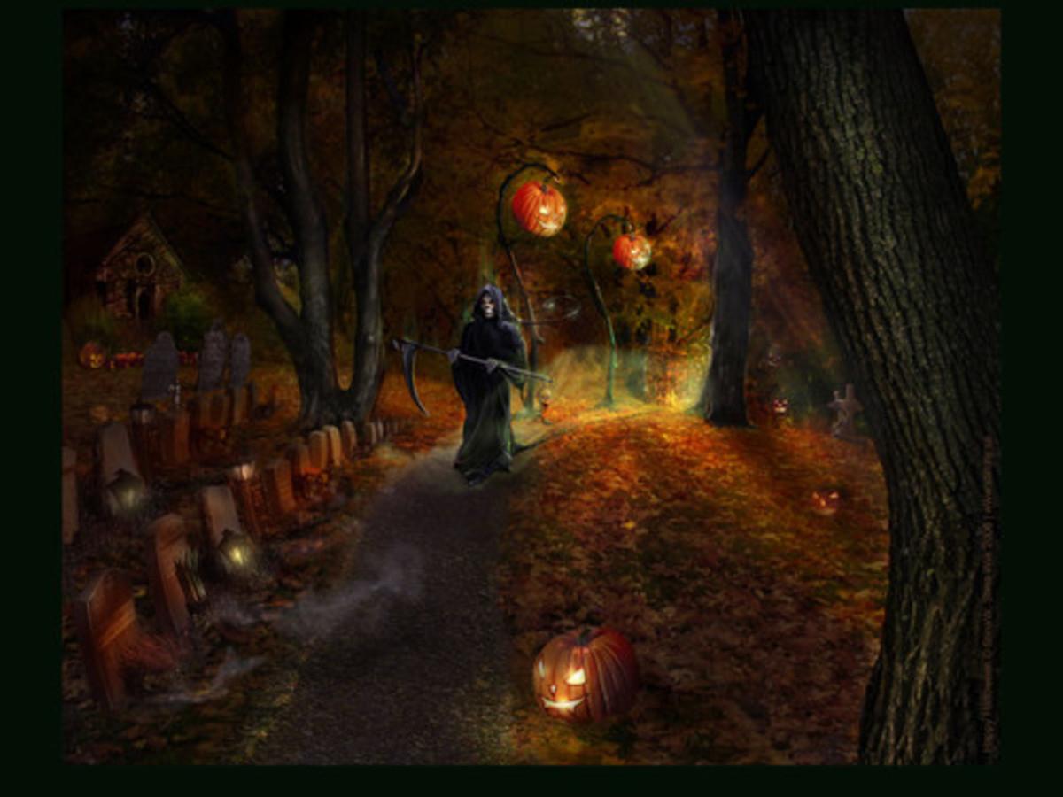 cool halloween art