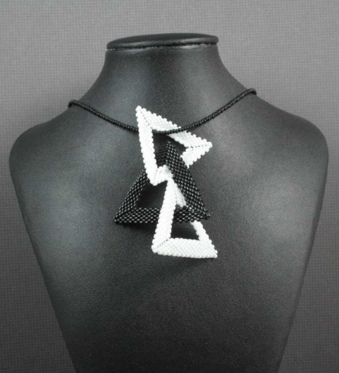There is no end to the different ways that you can link or connect your triangles for your jewelry pieces.