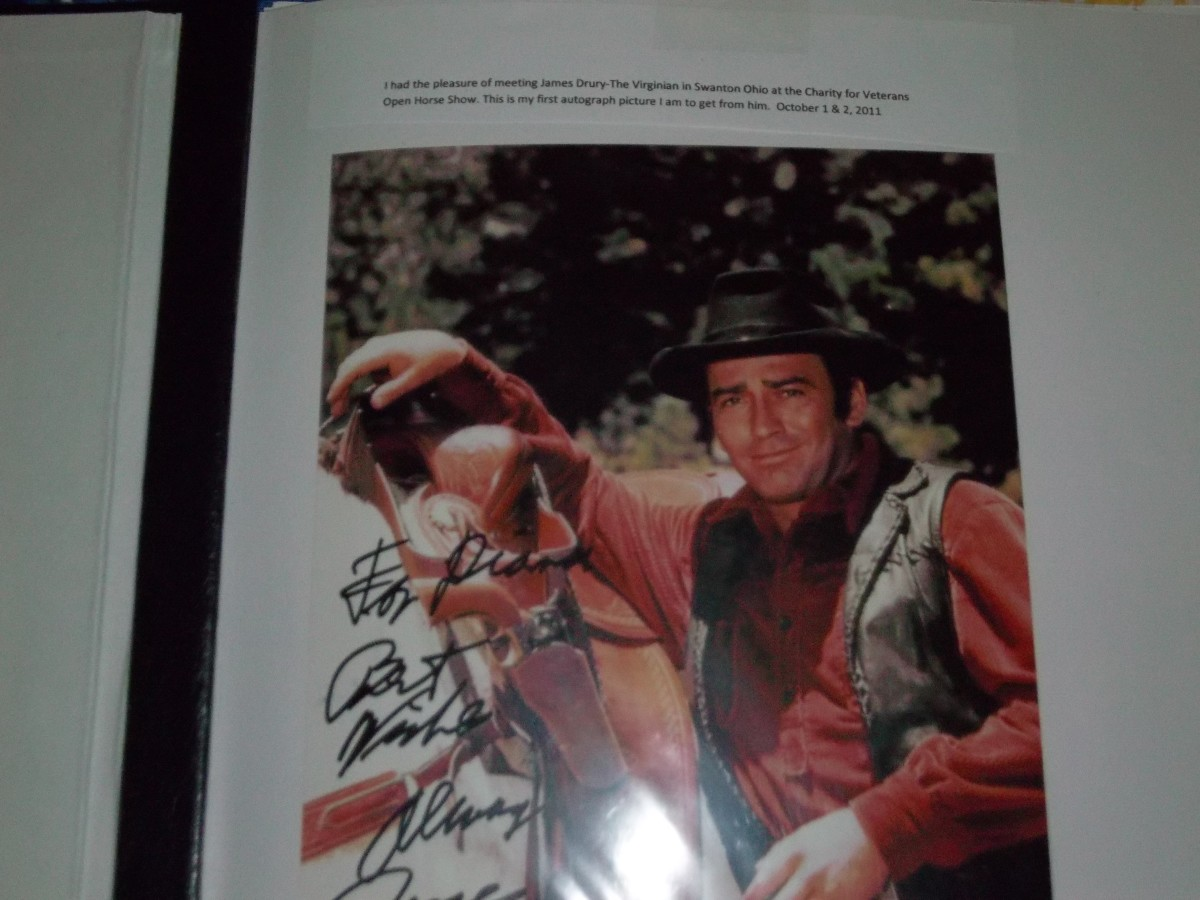 This is the first autograph picture I got of James Drury.