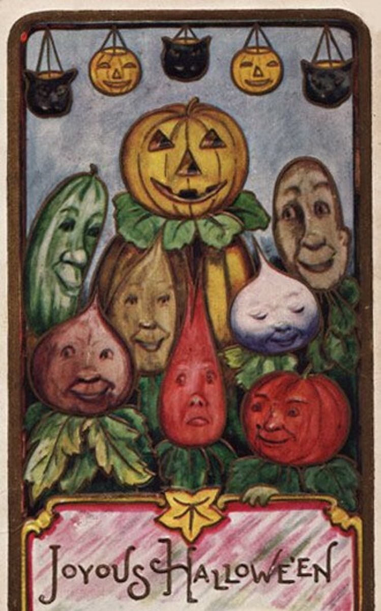 Halloween Veggie Faces