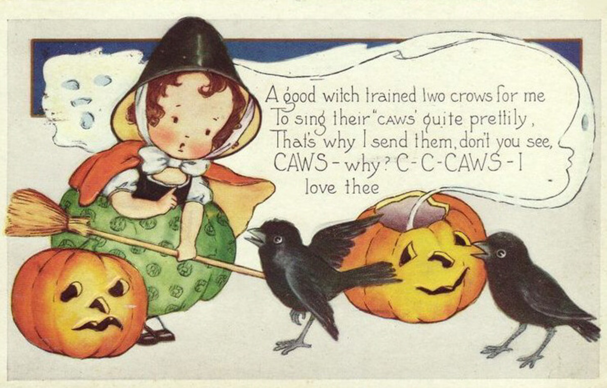 Deco Girl and Crows