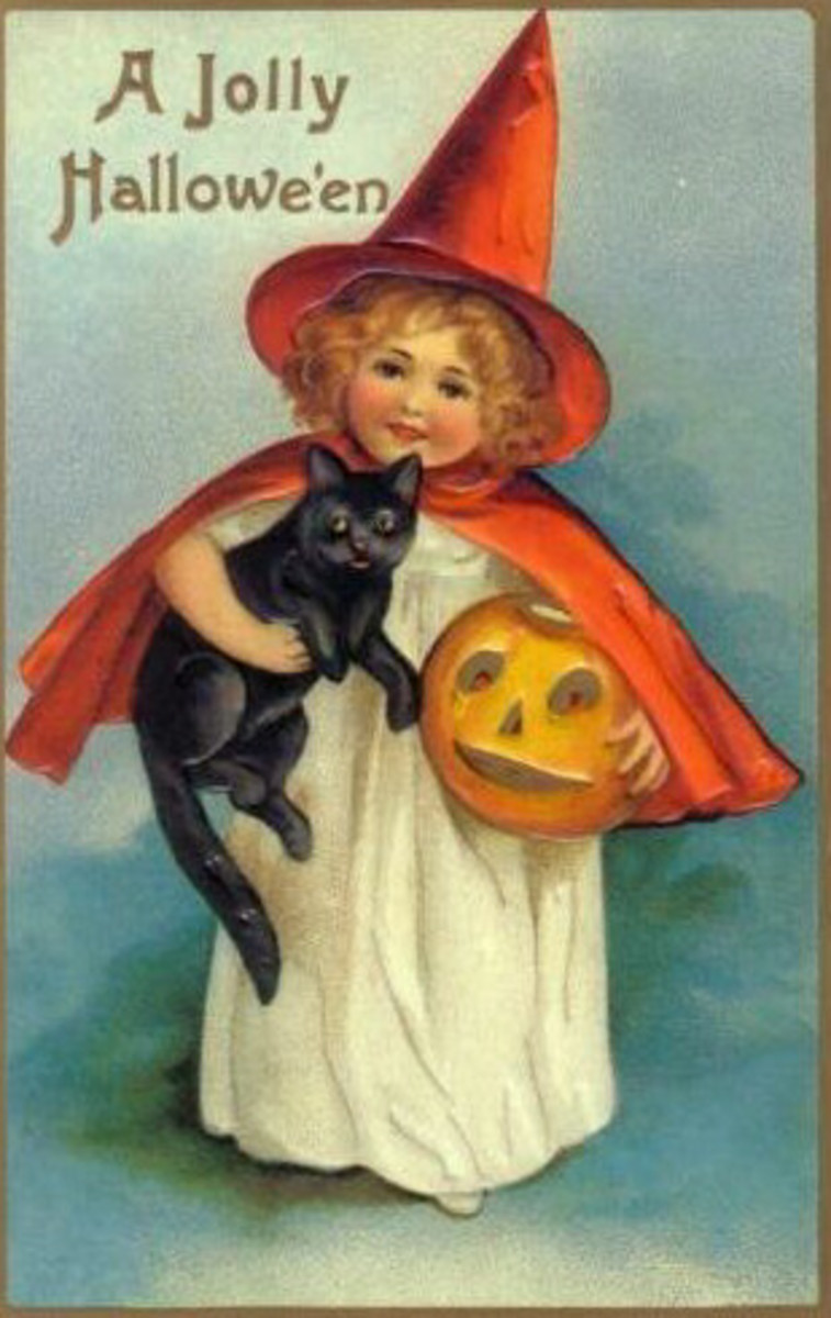 Little Witch Girl and her Black Cat