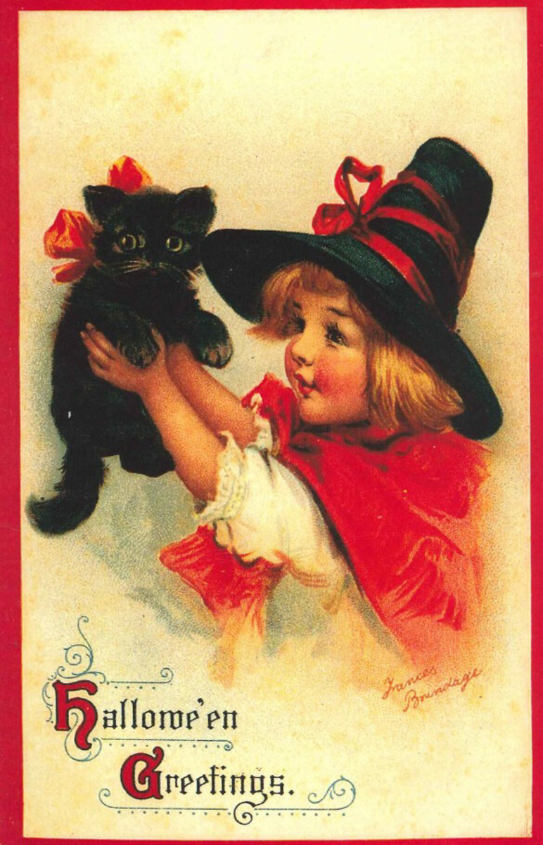 Little Red Witch and her Black Kitty Cat