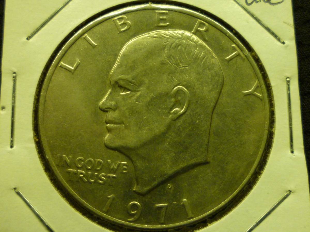 Value of Eisenhower Dollar. Shown above is the first Mintage year.