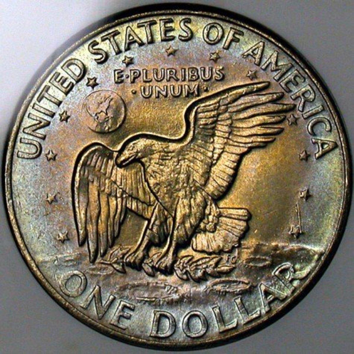 1972 Eisenhower Dollar Variety 3. Photo Courtesy Coinpage.com