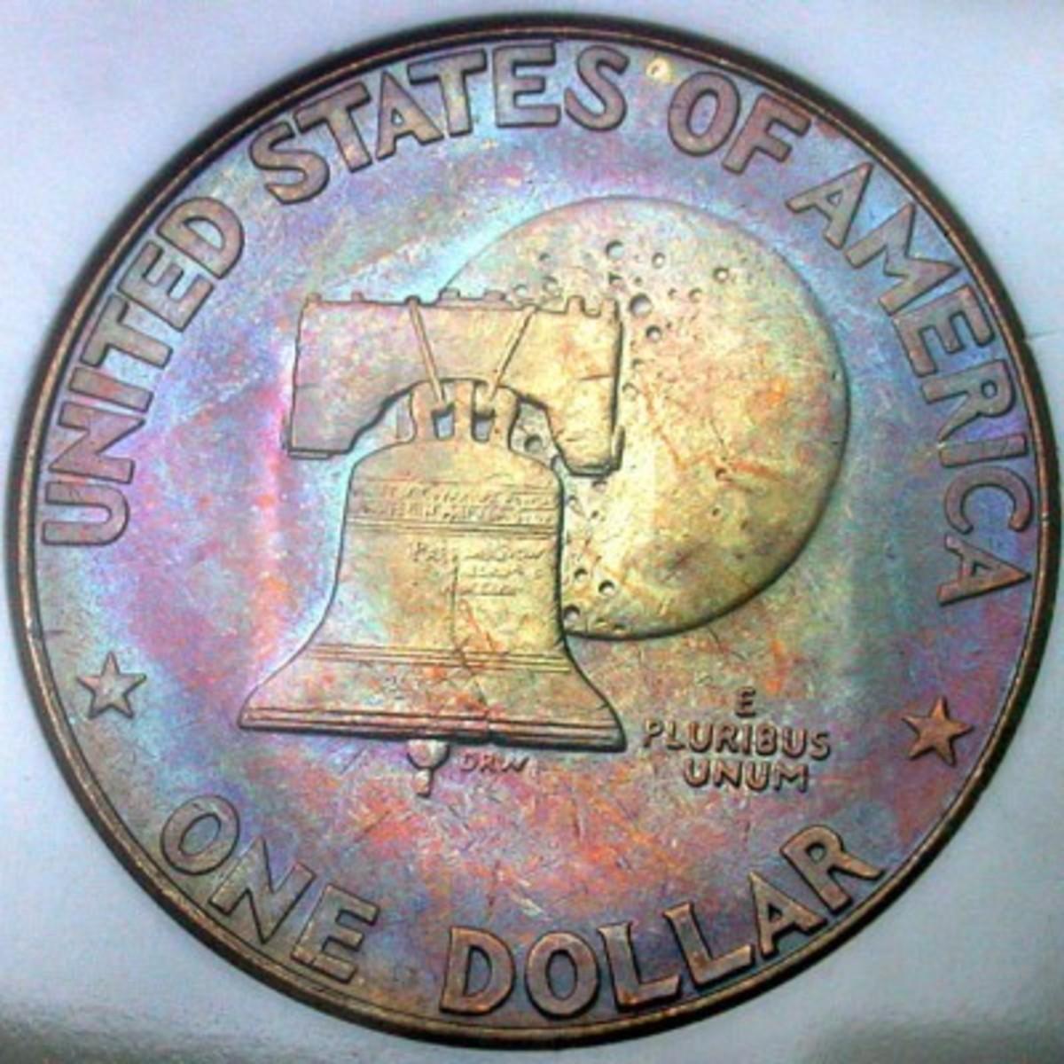 1976 Eisenhower Dollar Variety 1. Photo Courtesy Coinpage.com