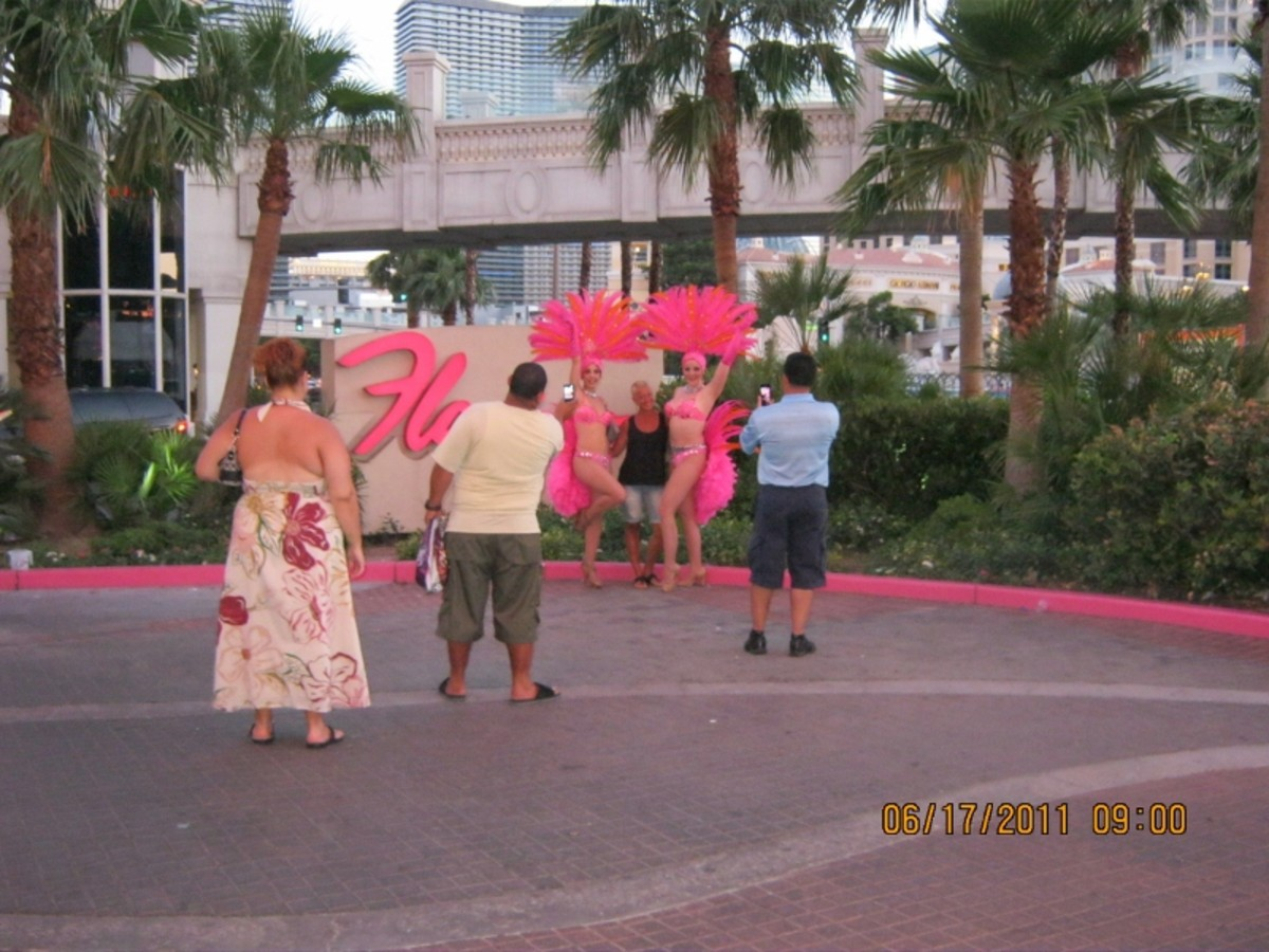 """Showgirls"" on the strip"