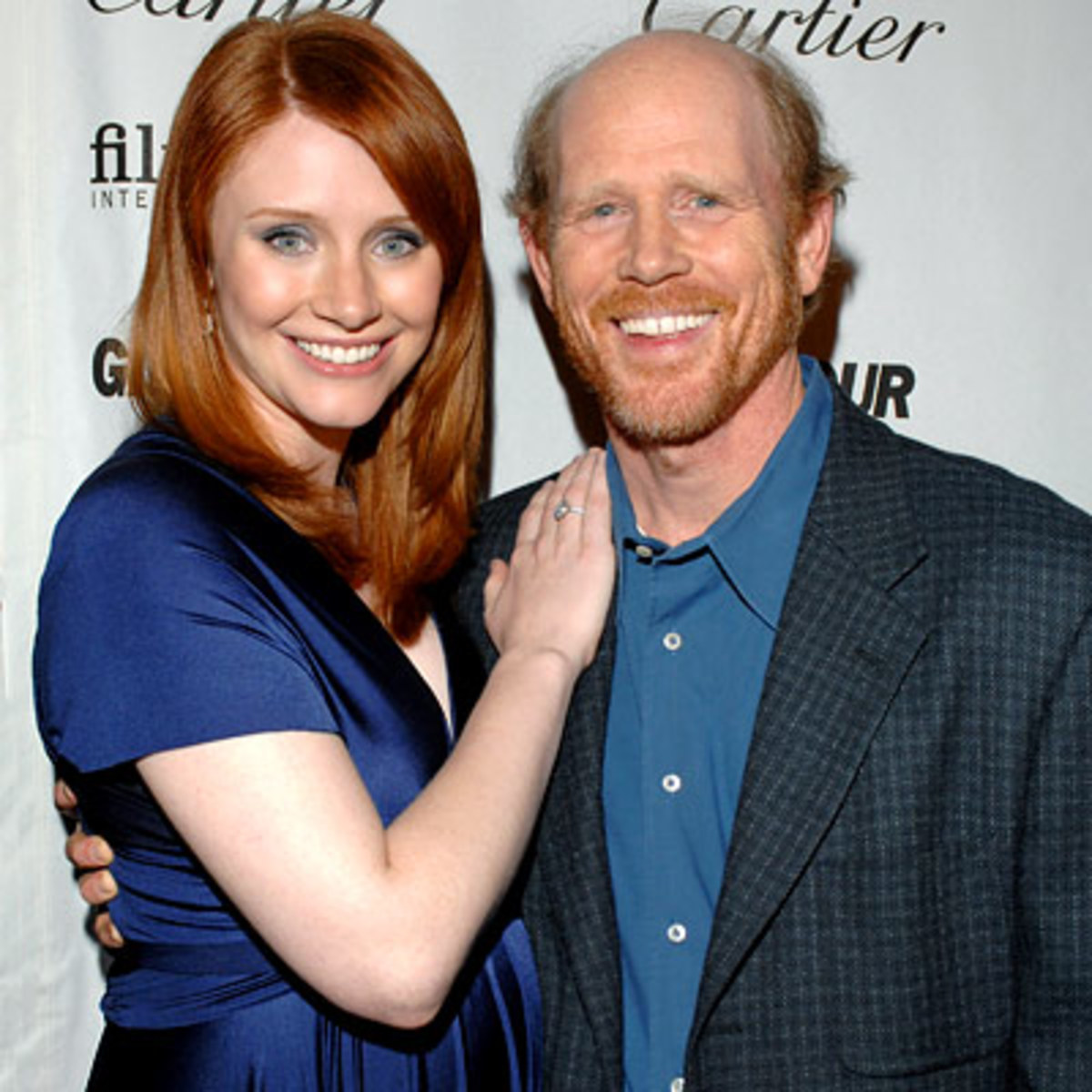 """Proud Pappa"" Ron Howard & daughter Bryce Dallas Howard, who made a big splash as ""Two-Slice Hilly"" in The Help (2011)"