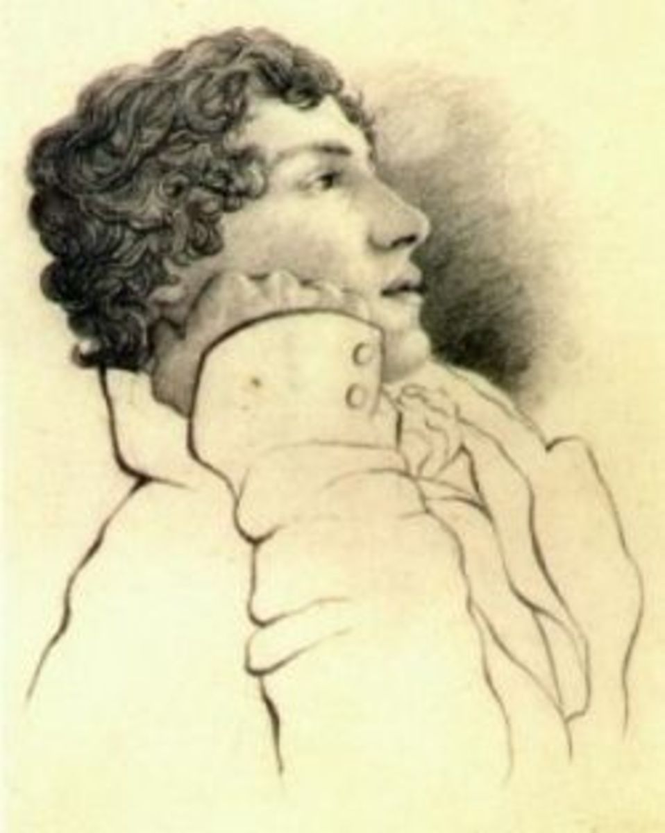 """By Charles Brown (1787-1842) ('John Keats images"""" [1] and [2]) [Public domain], via Wikimedia Commons"""