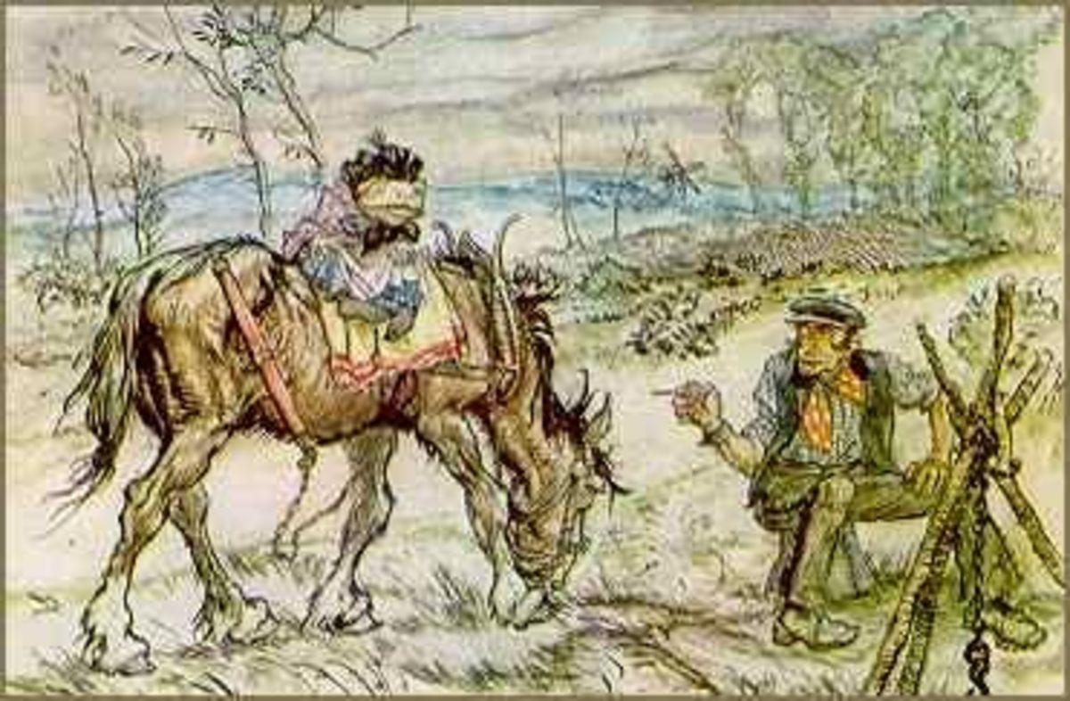 Mr. Toad meets the Gypsy, Arthur Rackham illustration, public domain