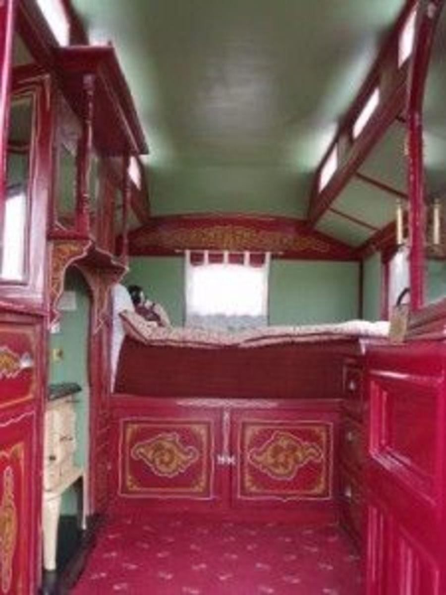 Caravan interior, from Tiny House Blog