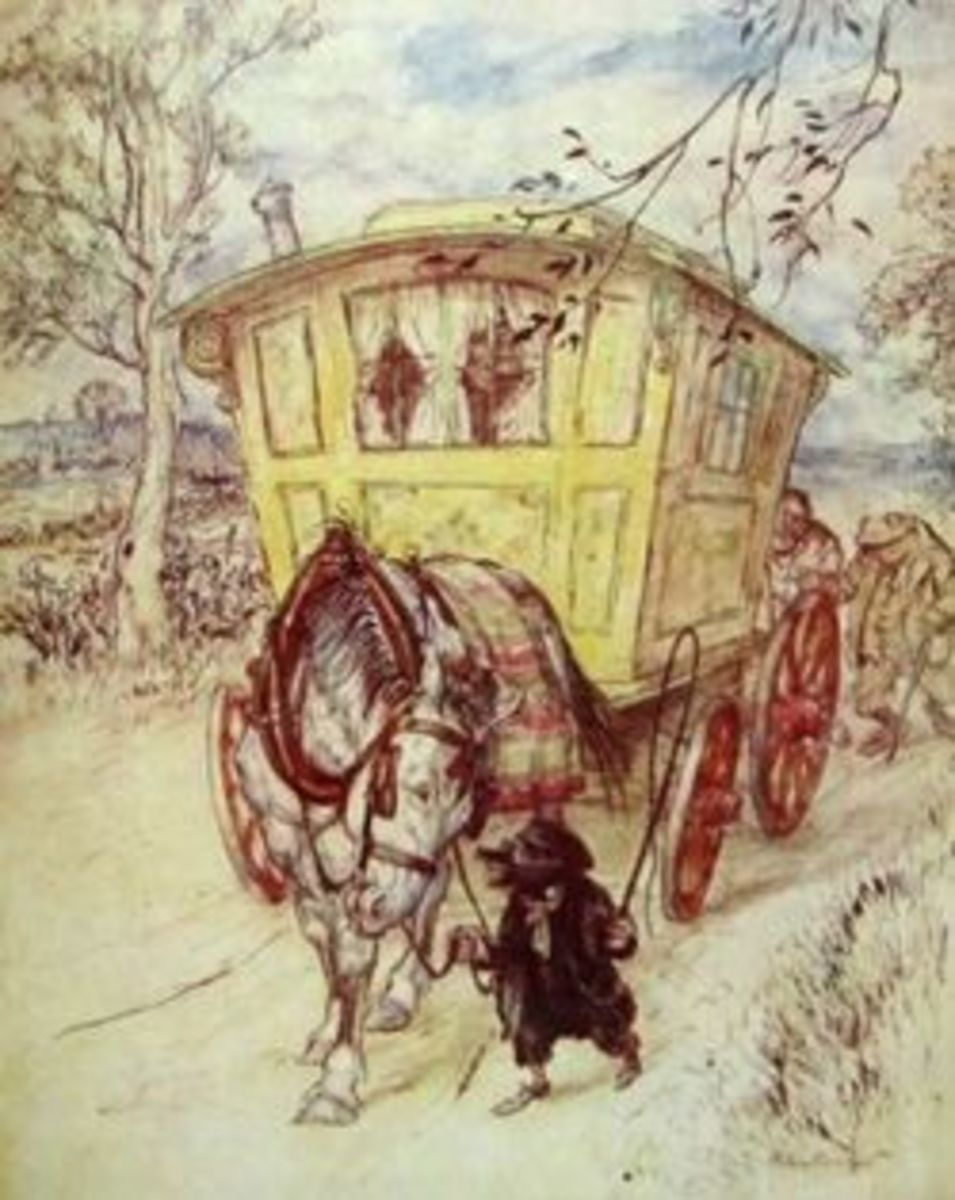 Mr. Toad's gypsy caravan from The Wind in the Willows by Kenneth Grahame, illustration by Arthur Rackham