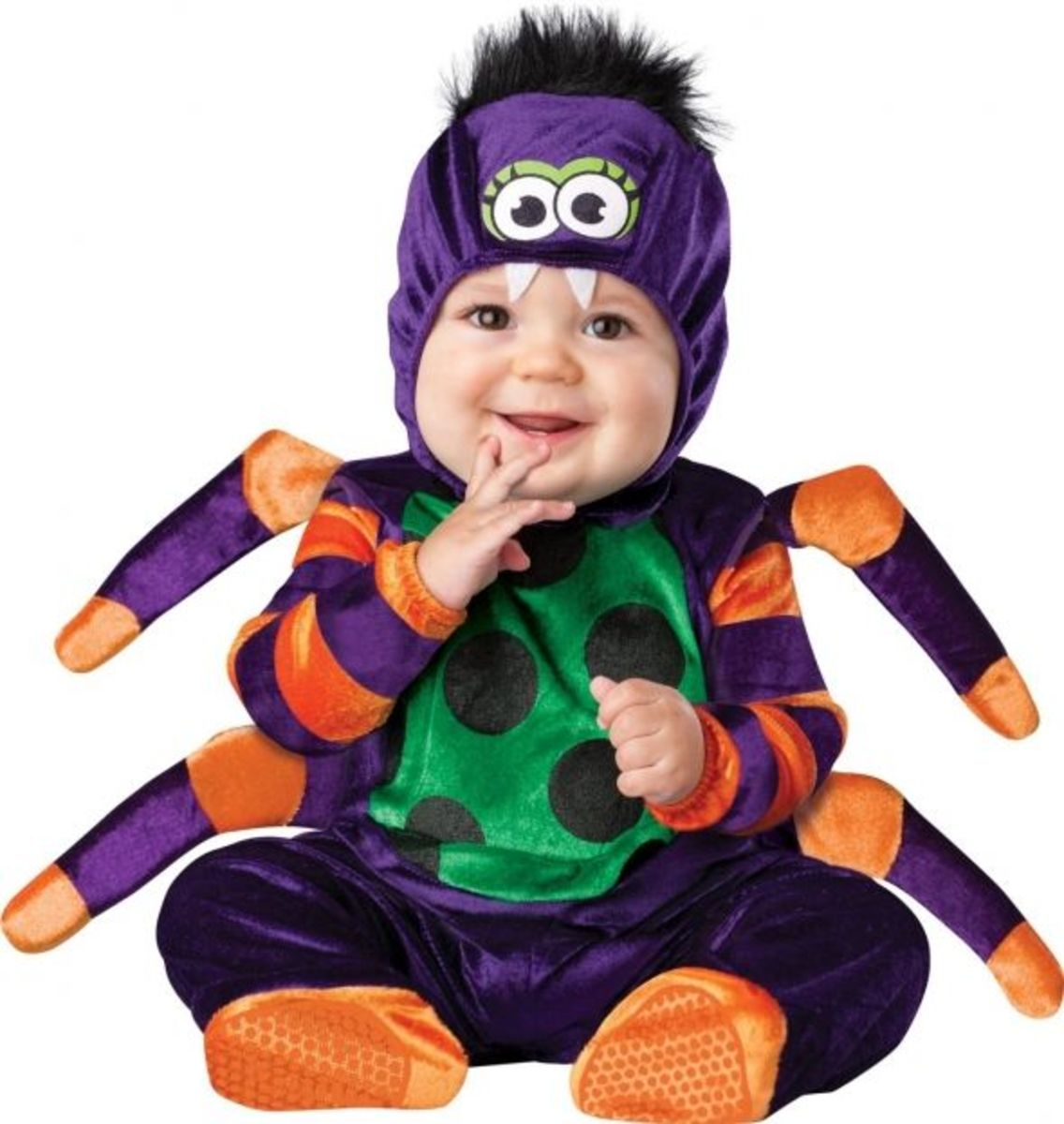 Lil Characters Unisex-baby Newborn Spider Costume
