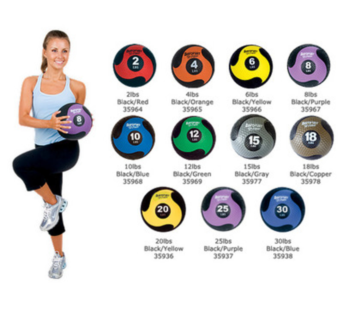 Medicine Balls in Different Sizes