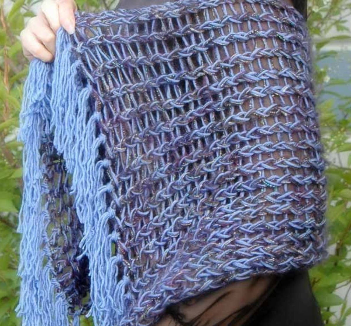 Knifty Knitter Rectangle Shawl