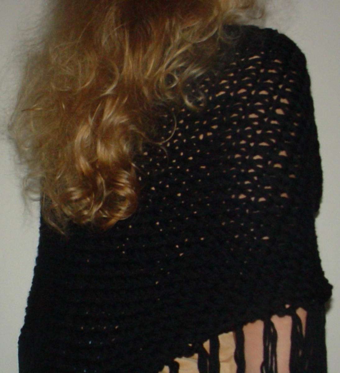 My Knifty Knitter dropstitch shawl pattern.