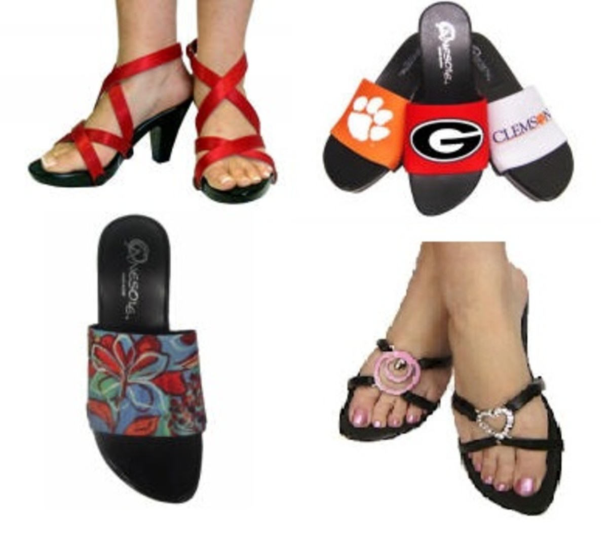 Ladies Shoes With Interchangeable Tops