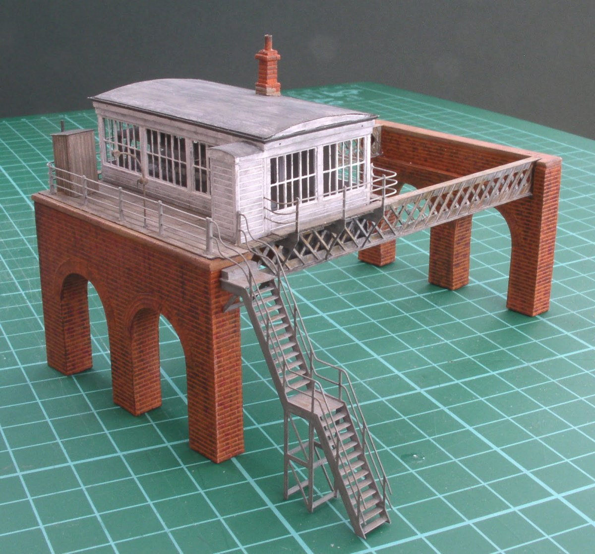 A model of Fencehouses signal cabin in the Tyneside area