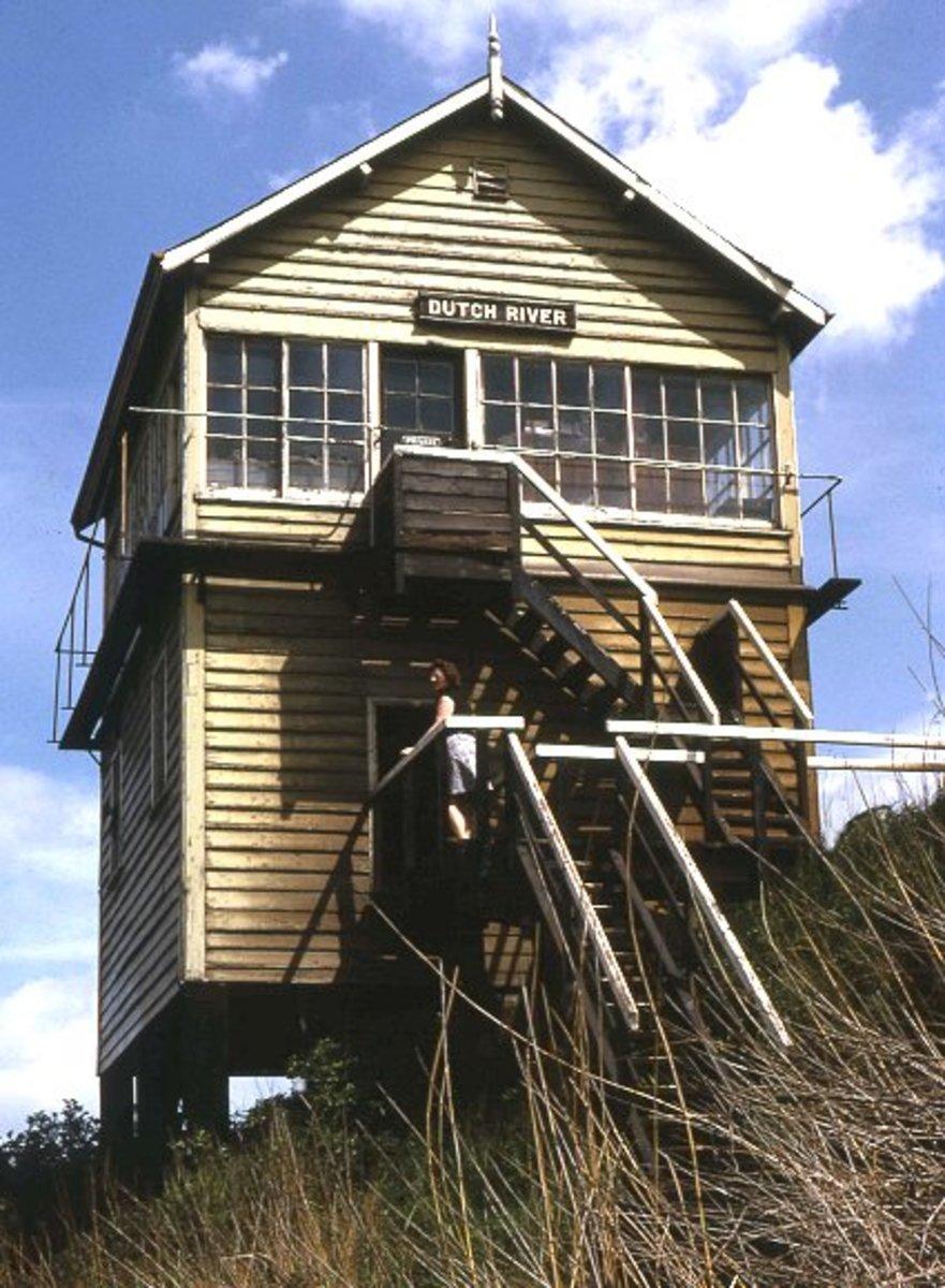 Closed Dutch River signal cabin near Goole in East Yorkshire