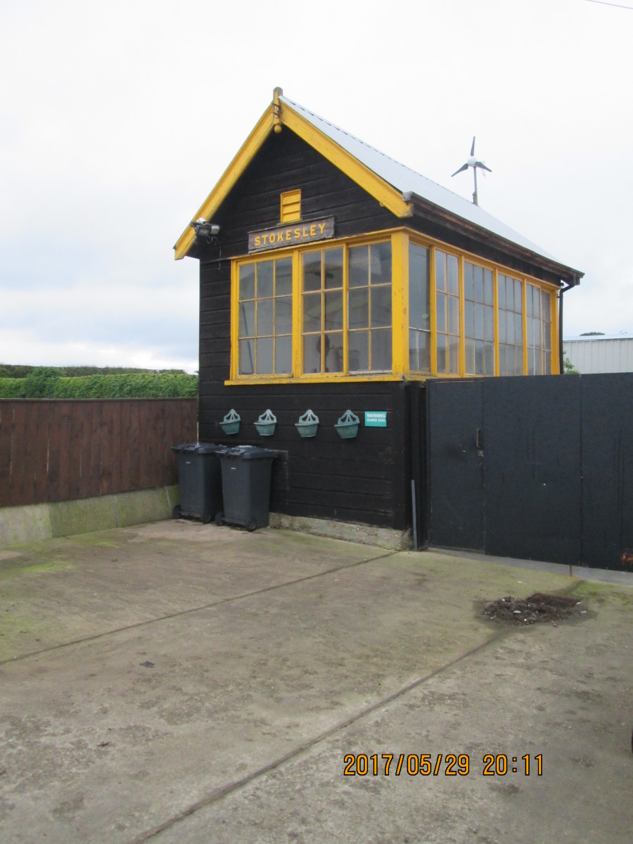 A similar cabin stood adjacent to the platform at Stokesley on the Picton-Battersby branch, since moved away and woodwork painted in an un-customary golden yellow ,