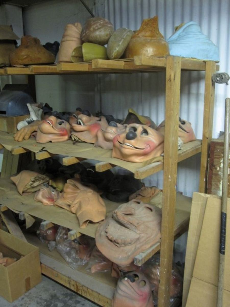 The Mask Rack. All masks are for sale.