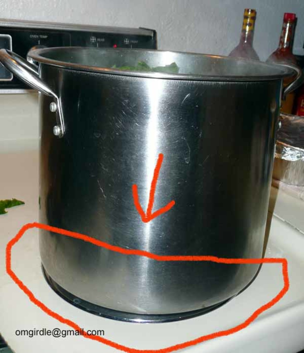 USE SAME BURNER SIZE AS POT IF POSSIBLE