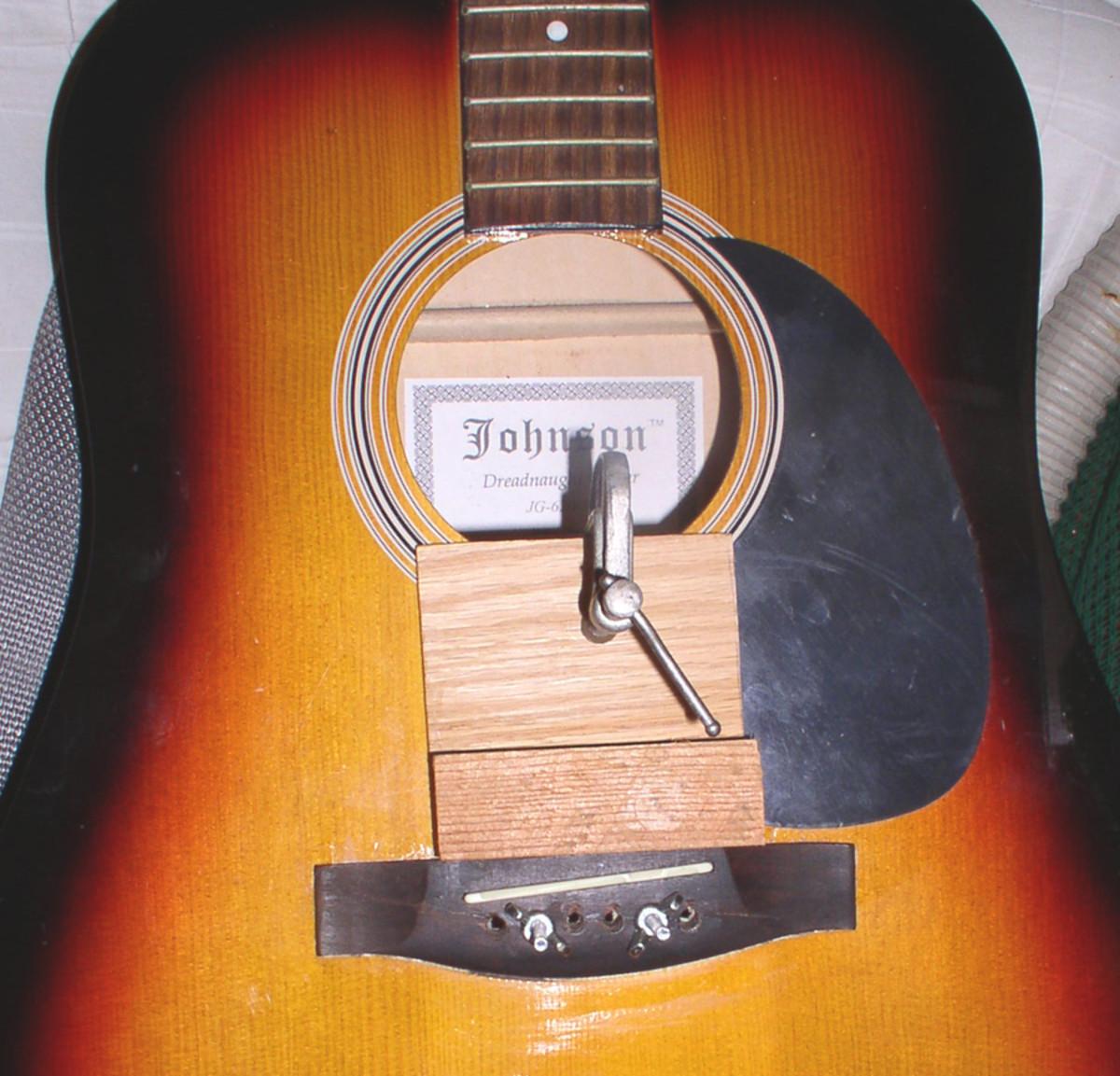 Replacing bridge on guitar