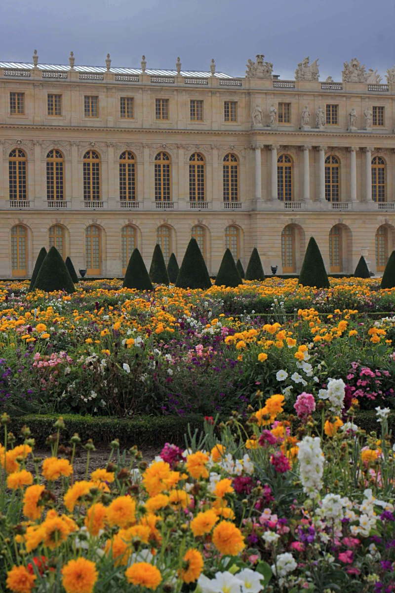 The South Wing of Versailles Palace with the gardens in the foreground