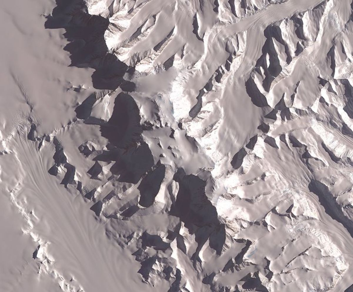 A view of Vinson Massif from space